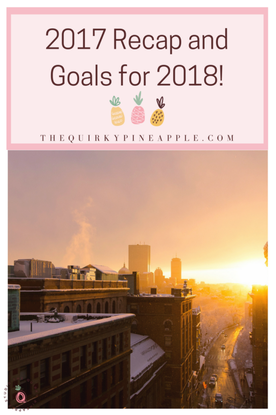 2017 Recap for the Quirky Pineapple Studio and sharing my new goals for 2018 and my new word for the year! My biggest lesson: have a little faith and everything will work out. -- The Quirky Pineapple