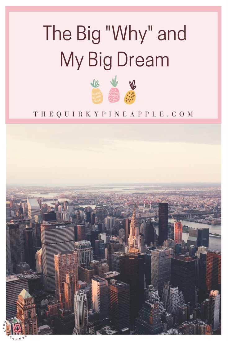 Why the Quirky Pineapple Studio? What's my big dream? Where am I going with all of this? What's the point? I hate those questions because I hated the cynicism I received after I told my answers. I'm dishing the BIG WHY and the BIG DREAM on the blog! -- The Quirky Pineapple Studio