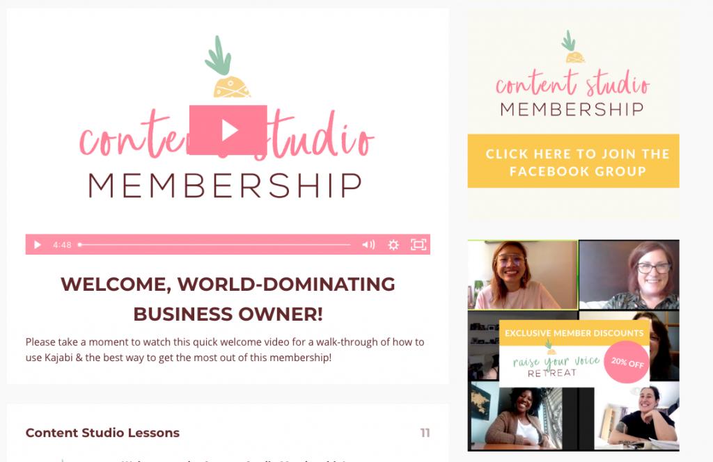 Screenshot of The Quirky Pineapple Studio's content studio